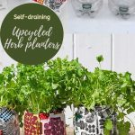 Marimekko plastic bottle planter
