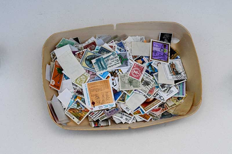 Mixed postage stamps