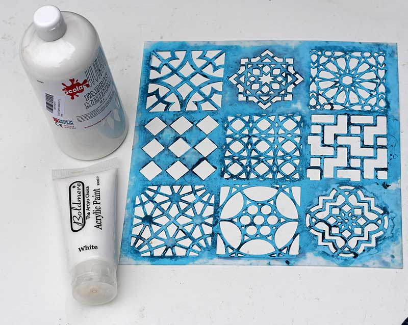 Moroccan stencil and paint