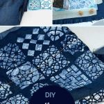 upcycled jeans table runner
