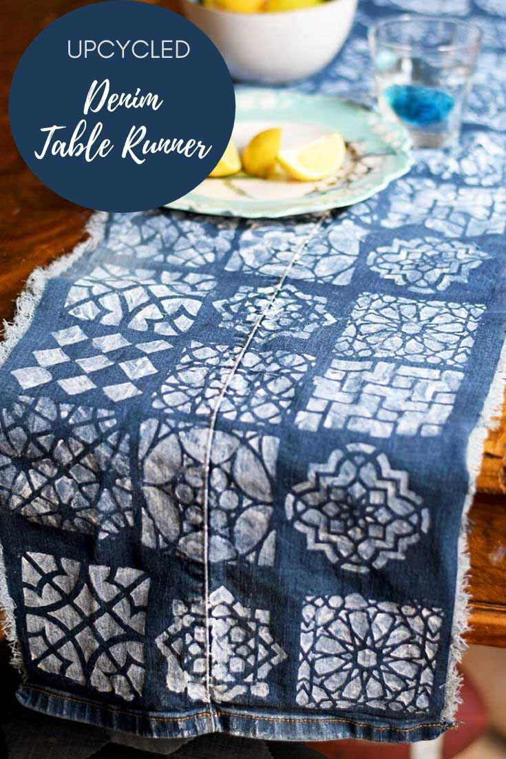 How to make a denim table runner