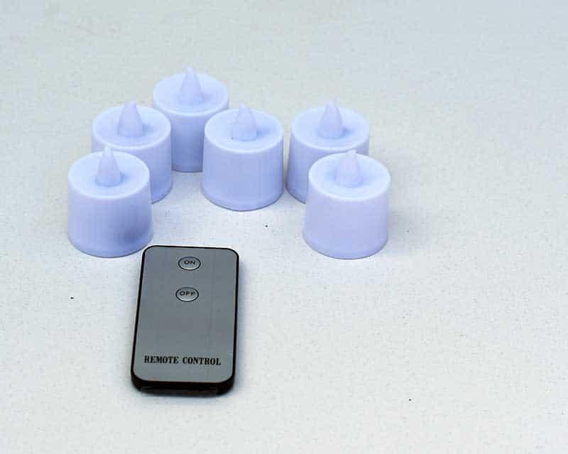 Remote control tea lights