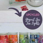 Upcycled yogurt jars