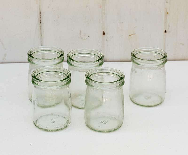 mini glass yogurt jars