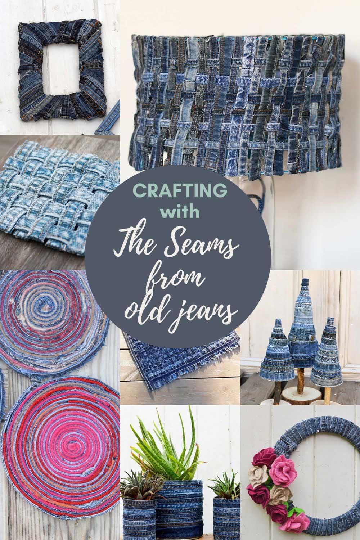 Repurposing old jeans seams