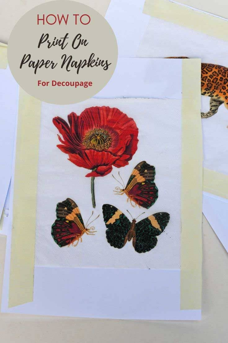 Printing on paper napkins