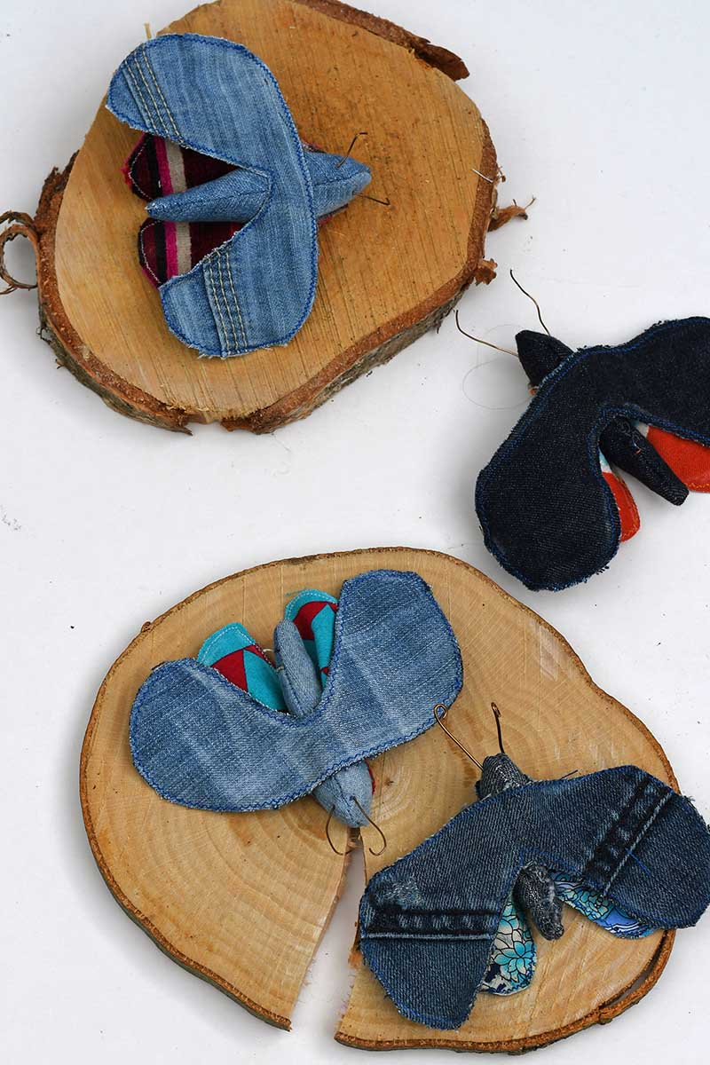 upcycled fabric moths