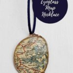 diy map necklace