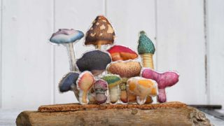 Fabric mushroom display