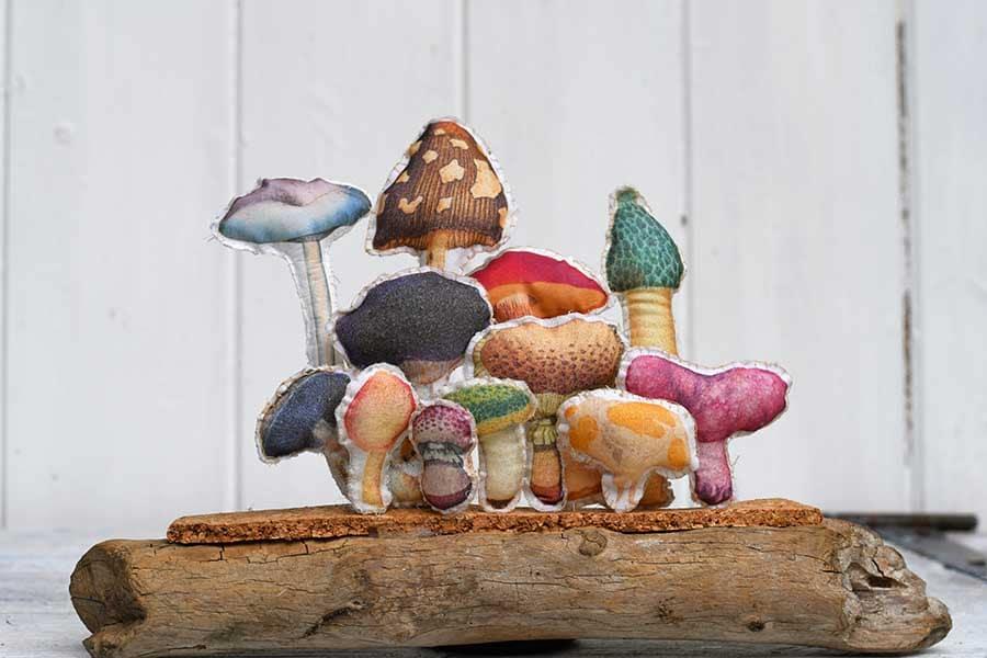 Fabric mushroom display