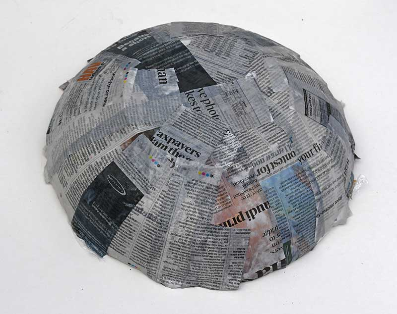 Paper mache the bowl