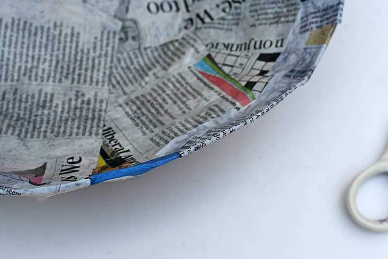 Paper mache edge