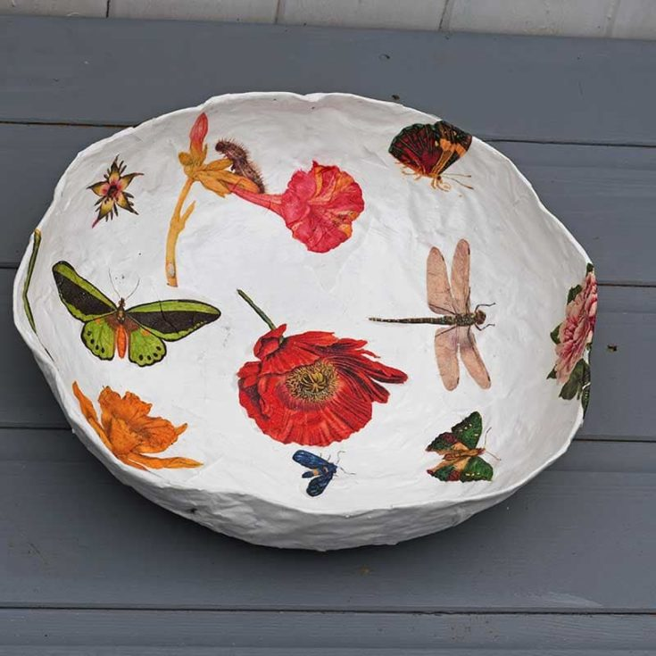 How to make a paper mache bowl