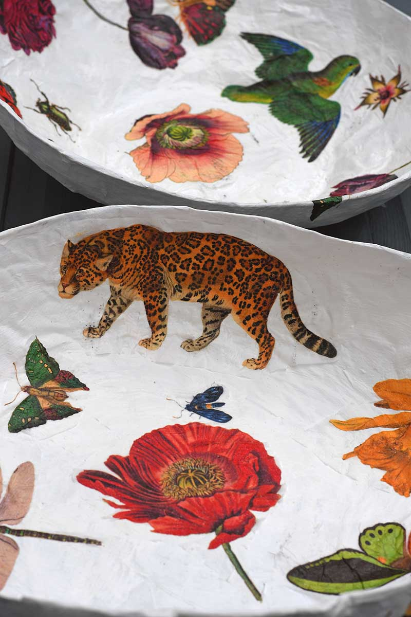 how to make paper mache bowls with decoupage