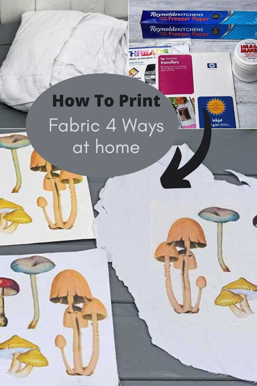 How to print on fabric at home