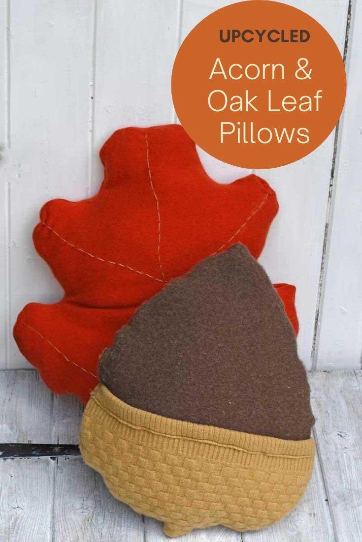fall sweater pillows DIY
