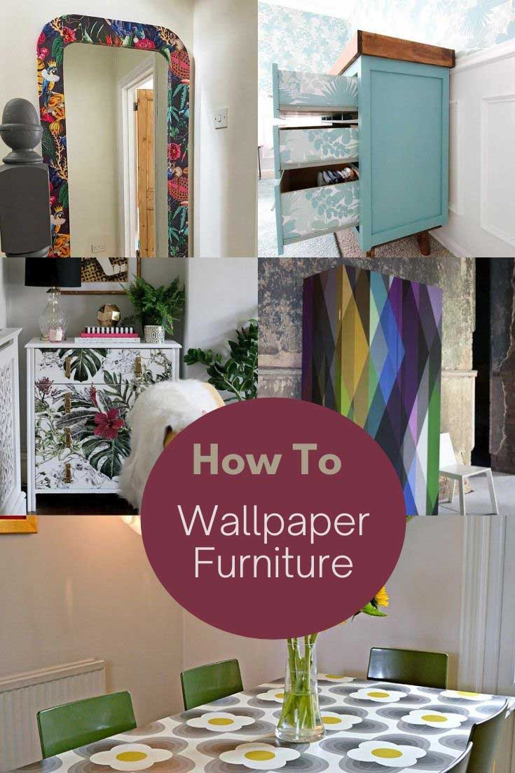 How to wallpaper furniture ideas