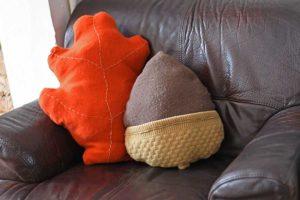 fall diy sweater pillows