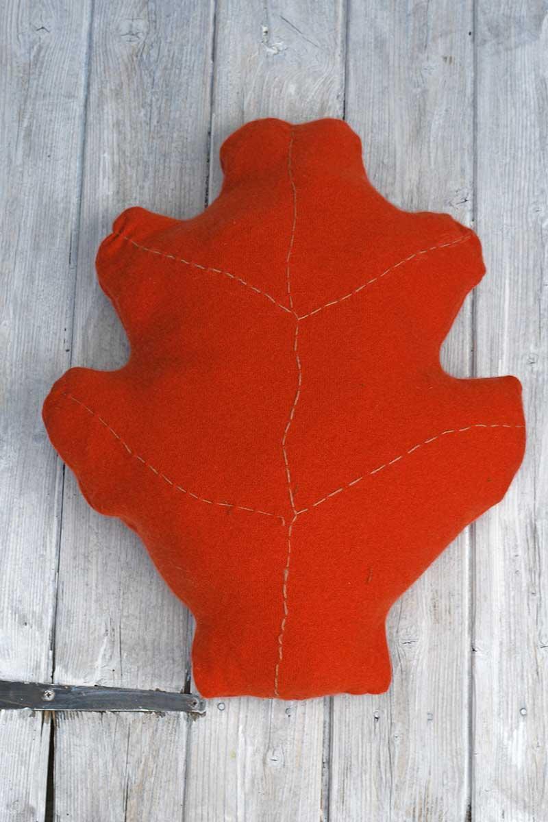 Oak leaf sweater pillows