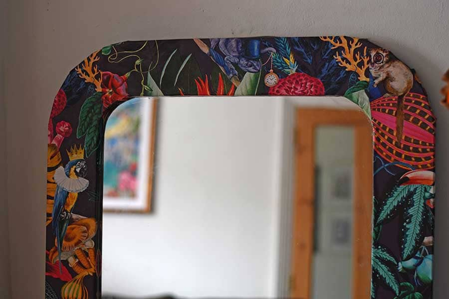 how to wallpaper a mirror