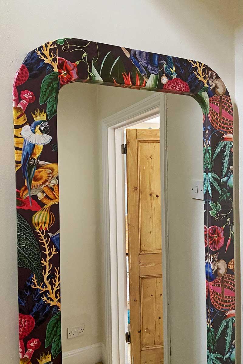 Ikea mirror wallpaper hack
