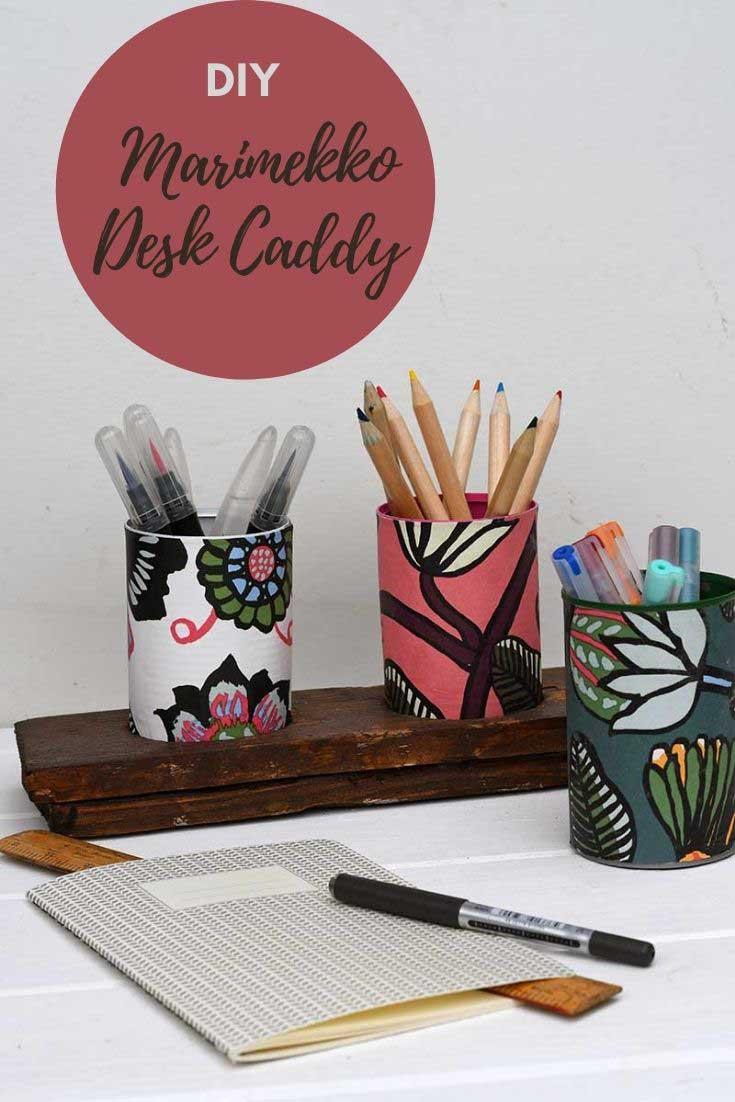 DIY Marimekko Desk Caddy
