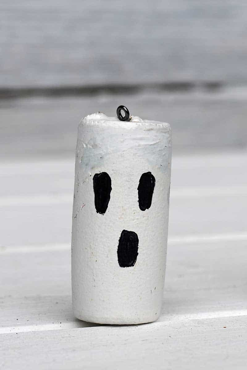 Halloween Ghost Wine cork craft