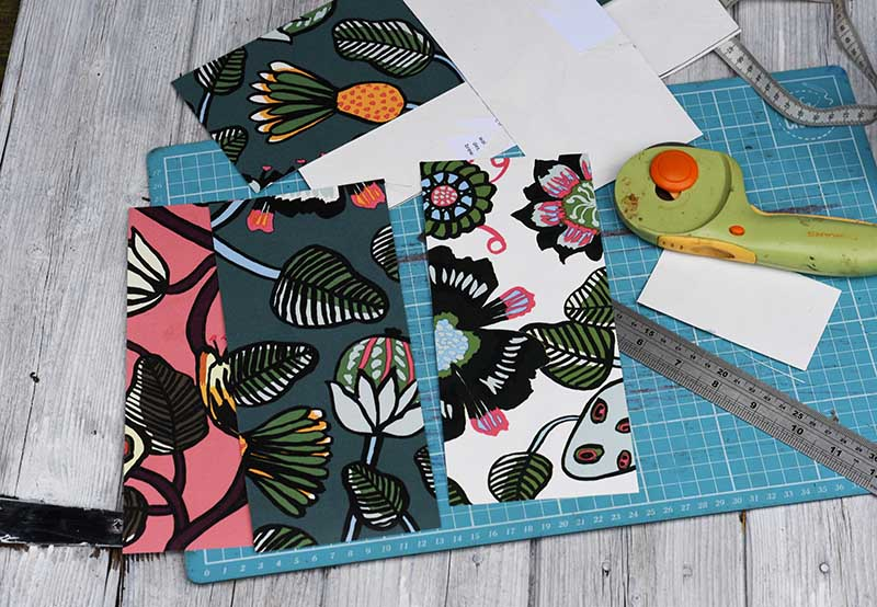 crafting with wallpaper samples