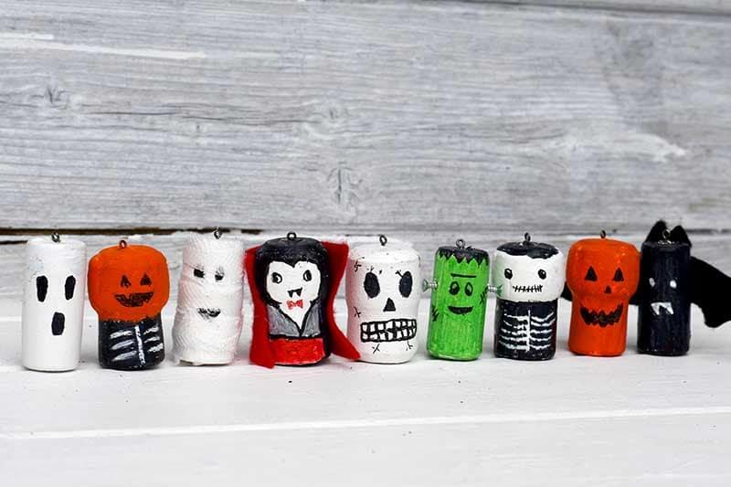 Halloween wine corks