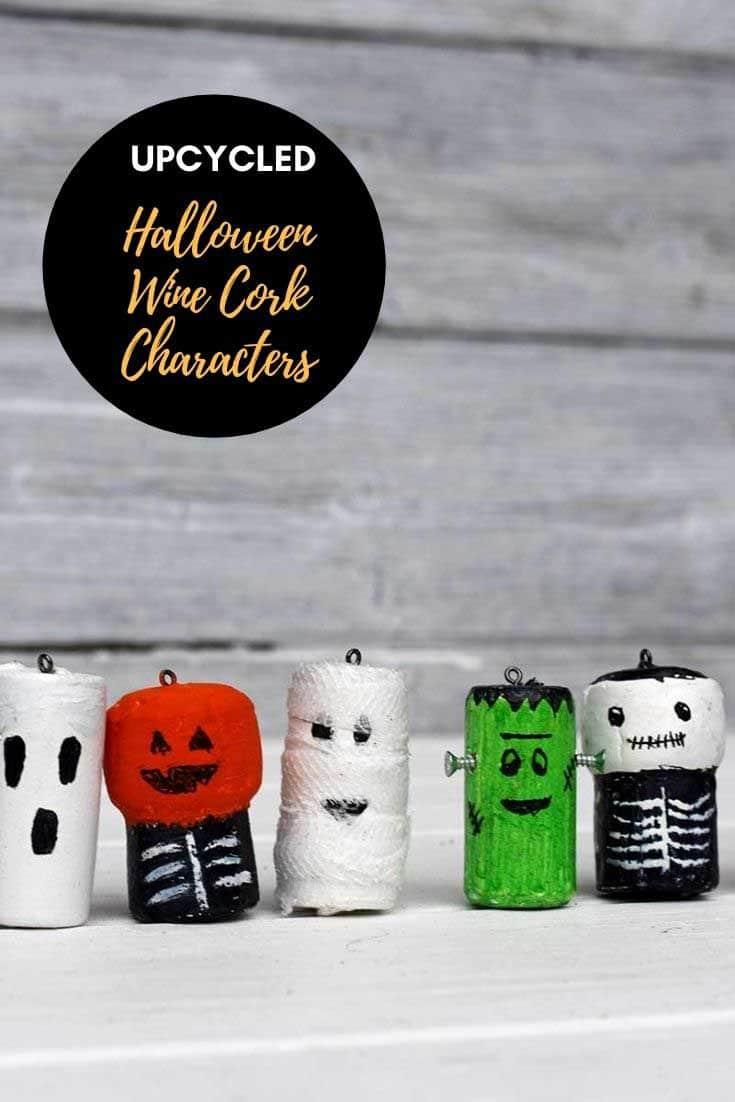 Halloween wine cork crafts