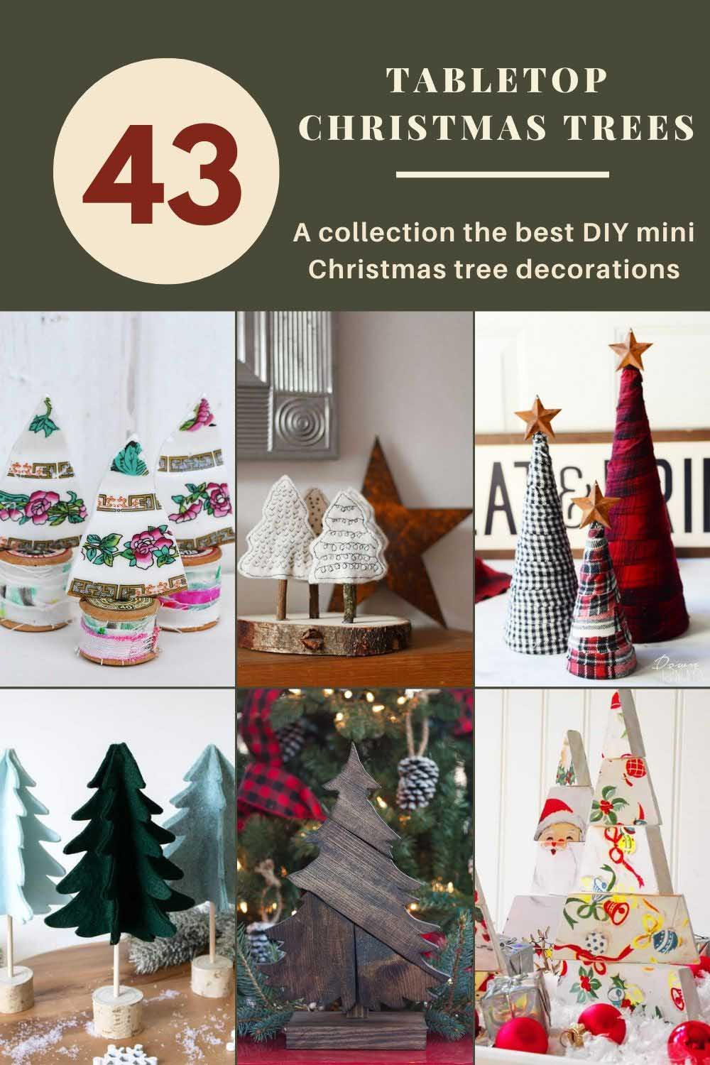 43 tabletop Christmas tree decorations
