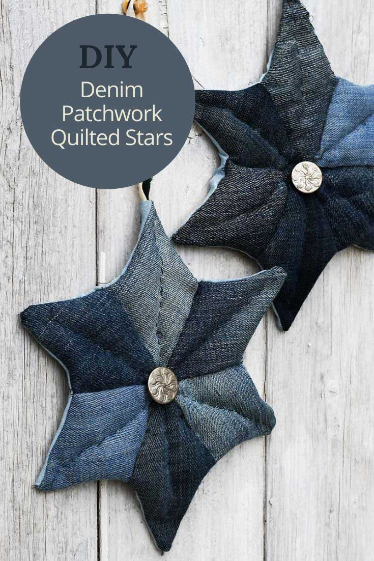How_to_make_denim_patchwork_quilted_stars