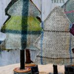 upcycled fabric trees