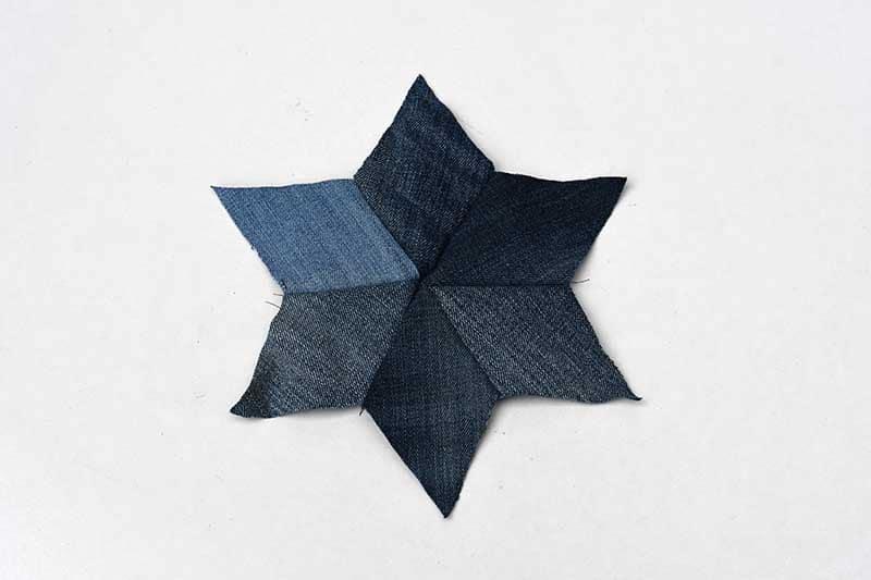 Denim patchwork star