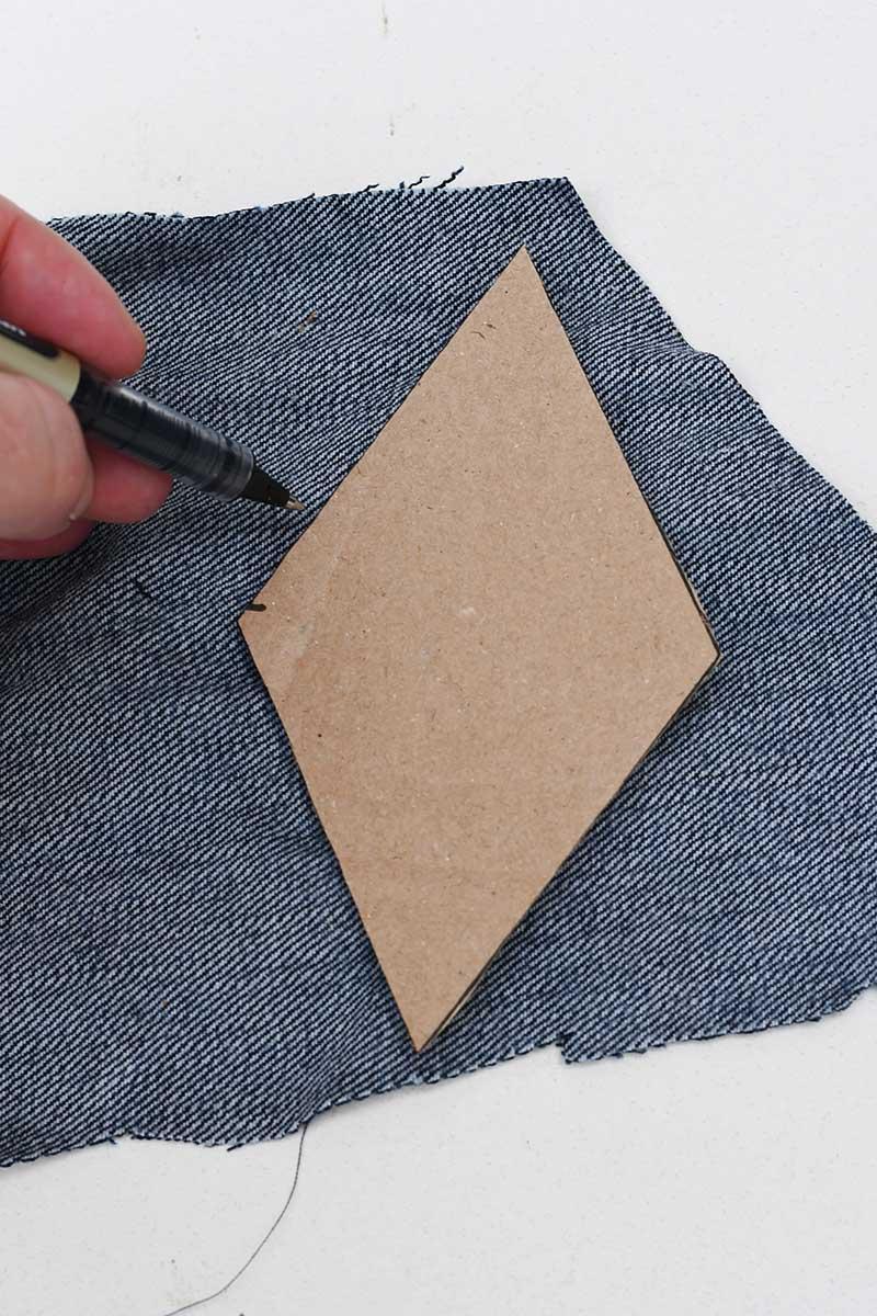 Drawing around diamond shape