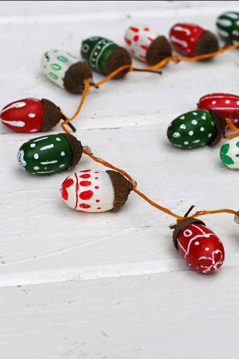 Acorn Christmas garland