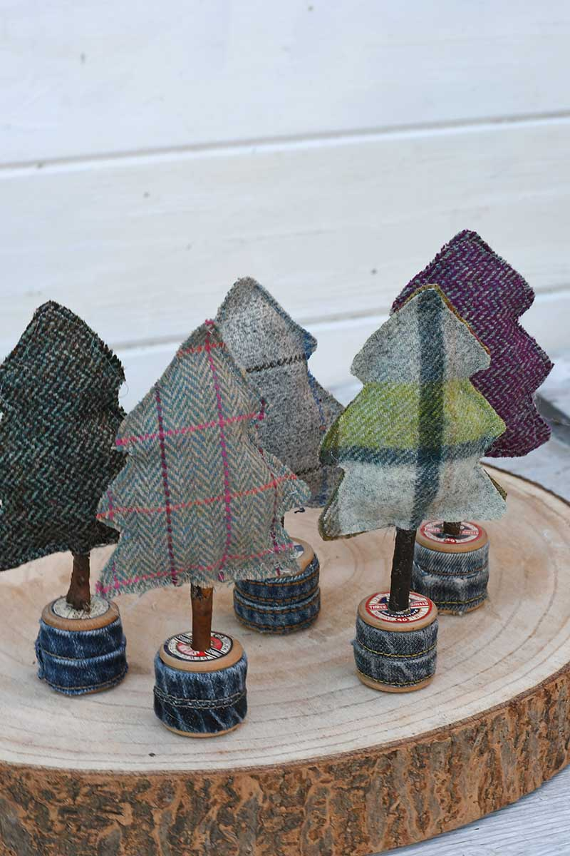 upcycled fabric forest