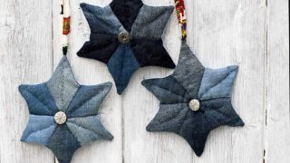 three_denim_patchwork_quilted_stars