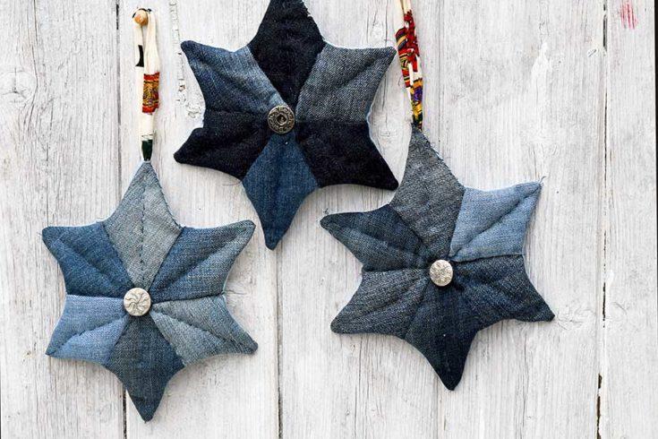 three_denim_patchwork_quilted_stars