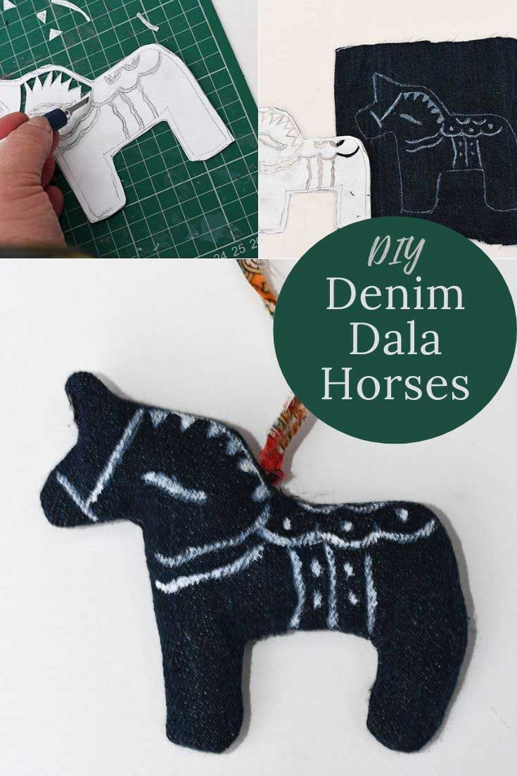 DIY Swedish Dala horse ornaments