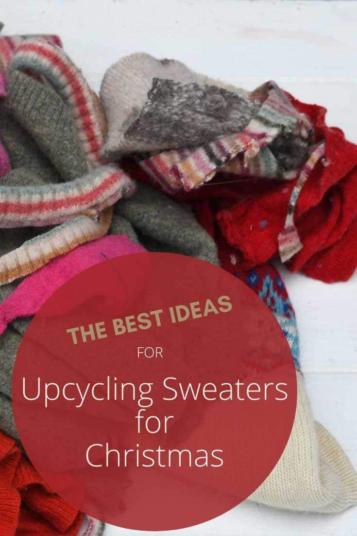 the best ideas for upcycling sweaters for Christmas