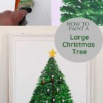 Painted flat Christmas tree