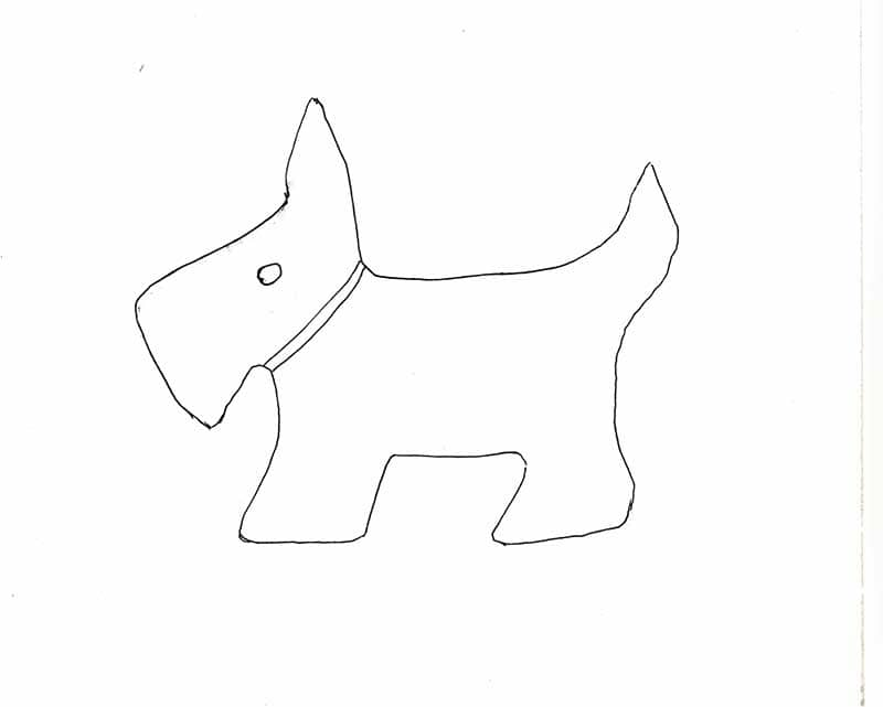 Scottie Dog template