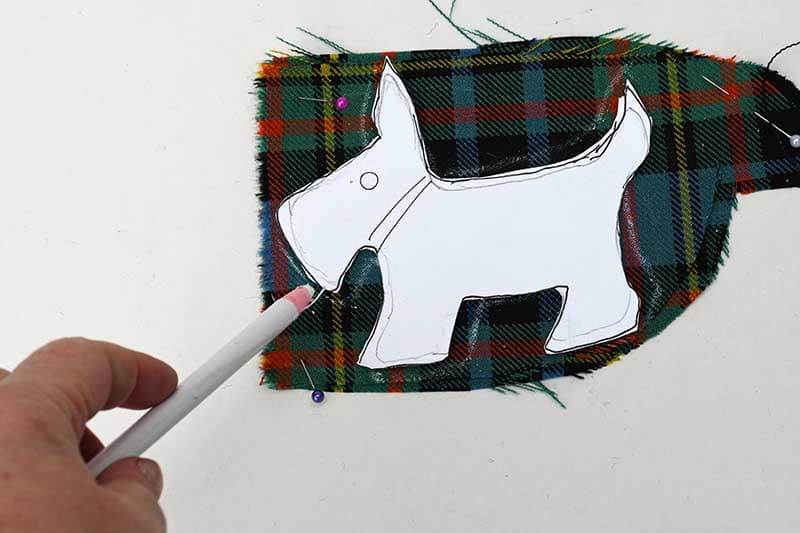 drawing around scottie dog template