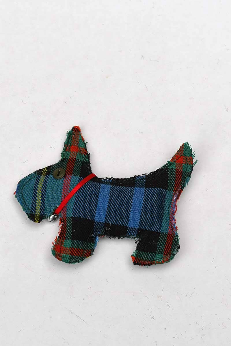 Tartan Scottie dog ornament
