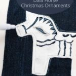 stenciling denim with dala horse