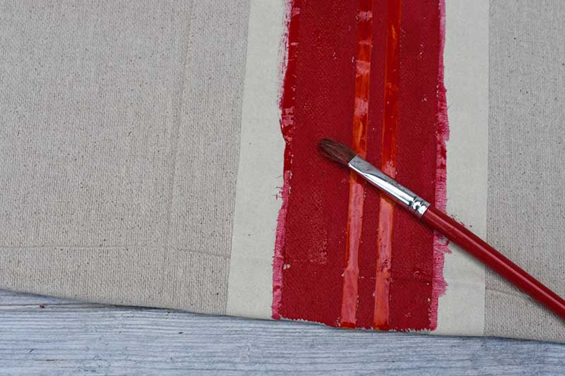 painting French linen stripes