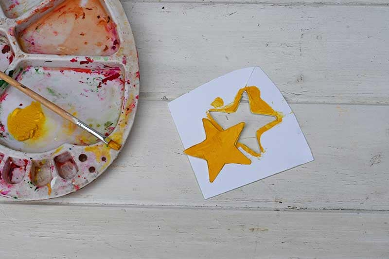 Making a star for large painted Christmas trees