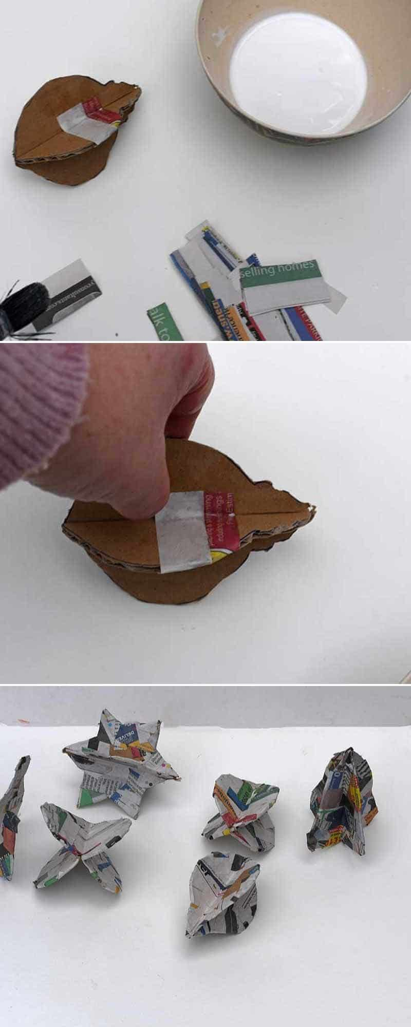 paper maching cardboard Christmas ornaments