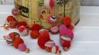 sweater ball christmas garland and ornaments